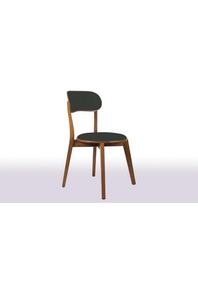 Mira Bkc Ceviz Ahşap Sandalye Anfora 7154 Kumaş