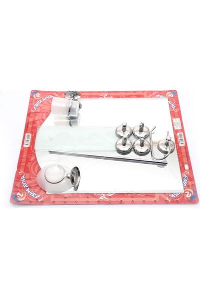 Empa Ayna 7'li Krom Banyo Ayna Seti Kemer Model