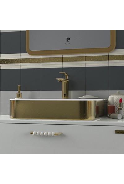 Sanovit Allecra 55 cm Dışı Altın Yaldız Lavabo