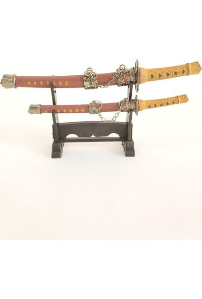Hediye Elçisi Samuray Kılıcı Şeklinde Zarf Açacağı 2li Kırmızı