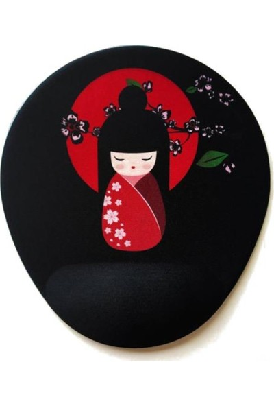 Office Küp Bilek Destekli Mouse Pad Geisha