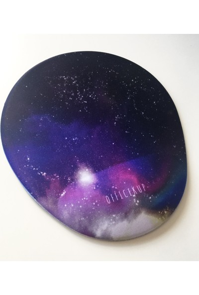 Office Küp Bilek Destekli Mouse Pad Galaxy