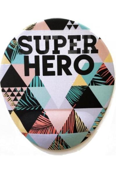 Office Küp Bilek Destekli Mouse Pad Super Hero