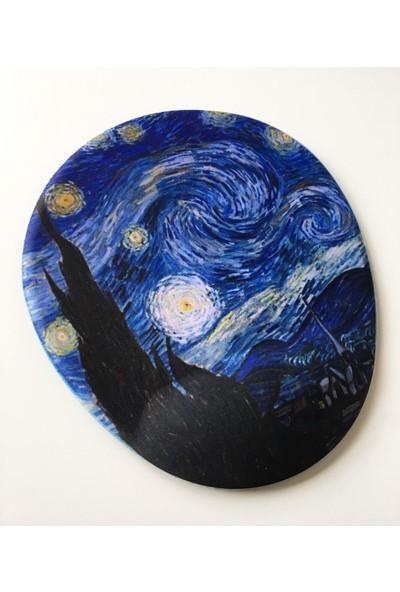 Office Küp Bilek Destekli Mouse Pad Starry Night