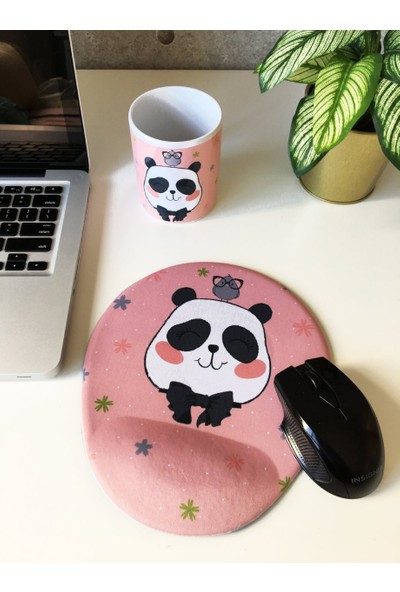 Office Küp Bilek Destekli Mouse Pad Panda
