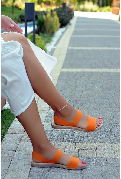 Pembe Potin Orange Kadın Sandalet
