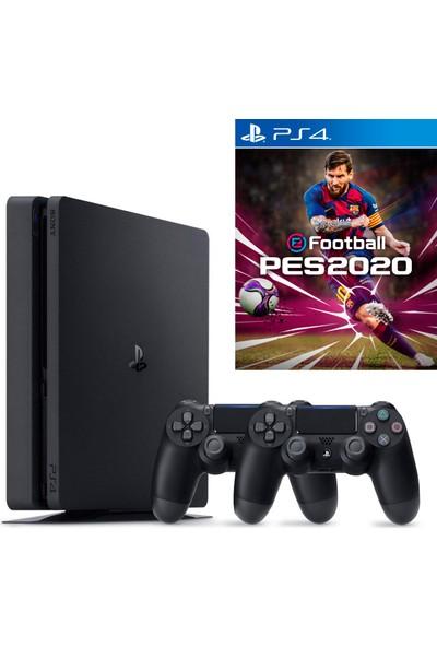 Sony Playstation 4 Slim 500 GB Oyun Konsolu + Ps4 Pes 2020 + 2. Ps4 Kol (Eurasia Garantili)