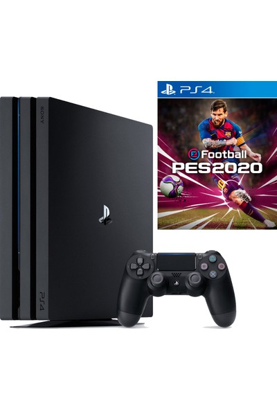 Sony Playstation 4 Pro 1 TB Oyun Konsolu + Ps4 Pes 2020 Oyun (Eurasia Garantili)