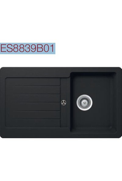 Esty Evye Es8839b01 Granit 86X50CM 1 Göz Siyah