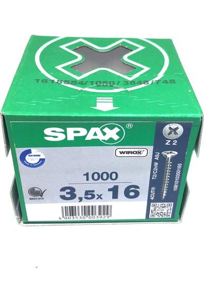 Spax Sunta Vidası 3.5X16 Galv Kaplama (1Pk:1000 Adet)
