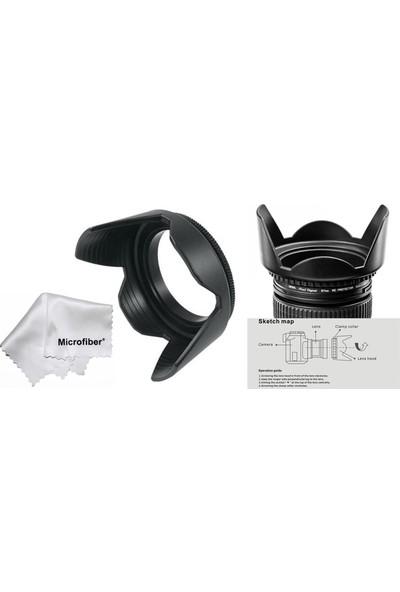 Tianya Canon 1100D 1200D 1300D 18-55 mm Lens İçin 58 mm Yaprak Parasoley