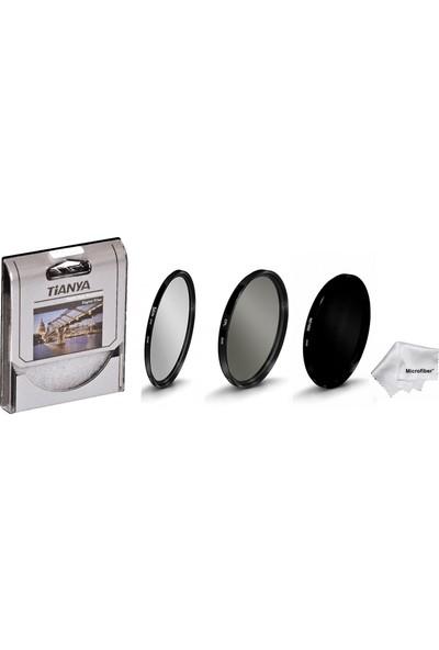 Tianya Canon 18-135 mm Lens İçin 67 mm Slim Uv + Cpl Circular Polarize + ND1000 Uzun Pozlama 10 Stop Nd Filtre