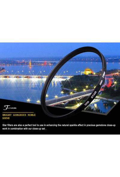 Dhd Nikon D5000 D5100 D5200 18-55 mm Lens İçin 52 mm Star Yıldız 8 Noktalı Efekt Filtre