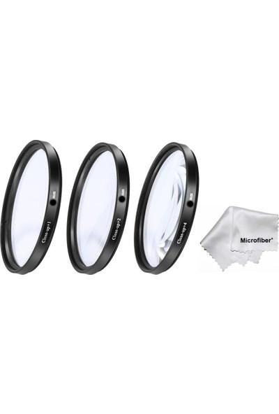 Dhd Nikon D5000 D5100 D5200 18-55 mm Lens İçin Close Up Macro Makro +1 +2 +4 Filtre Seti