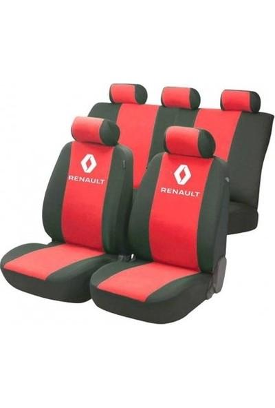 SM Renault R9 Serisi Special Kılıf Ön Ve Arka Koltuk Kılıf Kırmızı