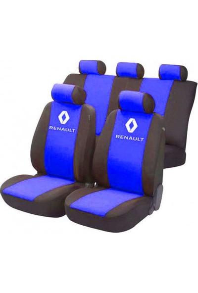 SM Renault Symbol Serisi Special Kılıf Ön Ve Arka Koltuk Kılıf Mavi