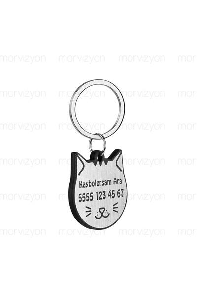 Morvizyon Kedi İsim Künyesi Kaybolursam Ara - M233