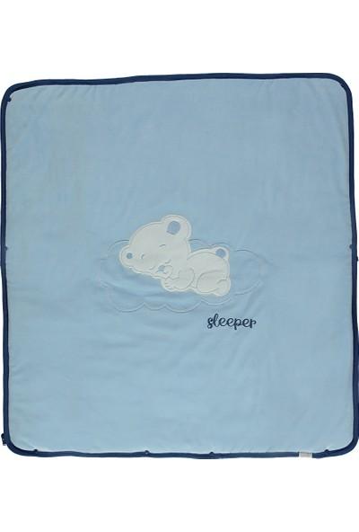 Bebetto Kadife Elyaflı Battaniye B607 Mavi