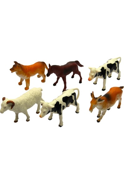 Yeşil Oyuncak 6 Parça 5 Inc Oyuncak Çiftlik Hayvanları Seti Orta Boy 15 cm