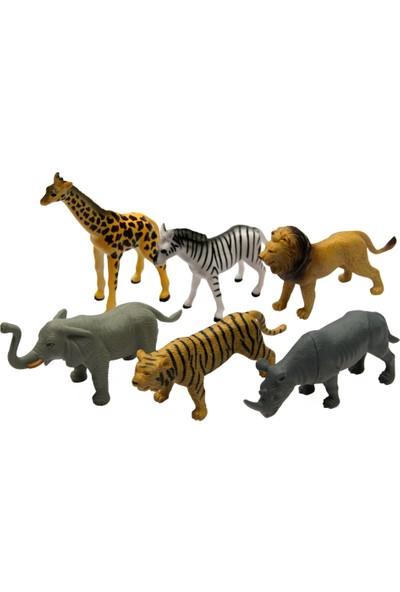 Yeşil Oyuncak 6 Parça 5 Inc Oyuncak Vahşi Hayvanları Seti Orta Boy 15 cm