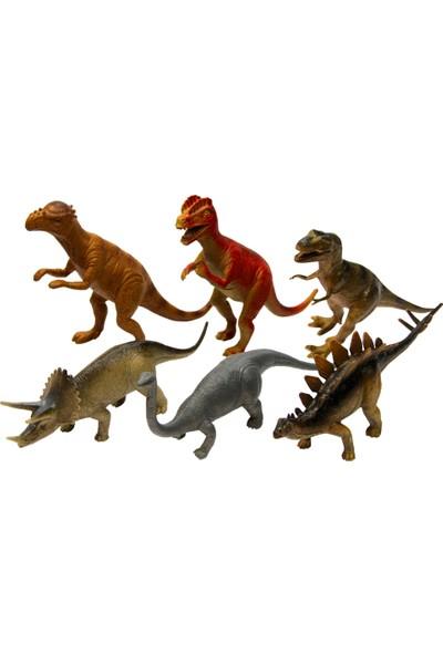 Yeşil Oyuncak 6 Parça 8 Inc Oyuncak Dinozor Hayvanları Seti - Dinazor Büyük Boy 20 cm