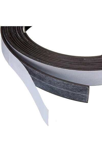 Dünya Magnet Şerit Mıknatıs Yapışkanlı Magnet Mıknatıs 12 mm x 1 m