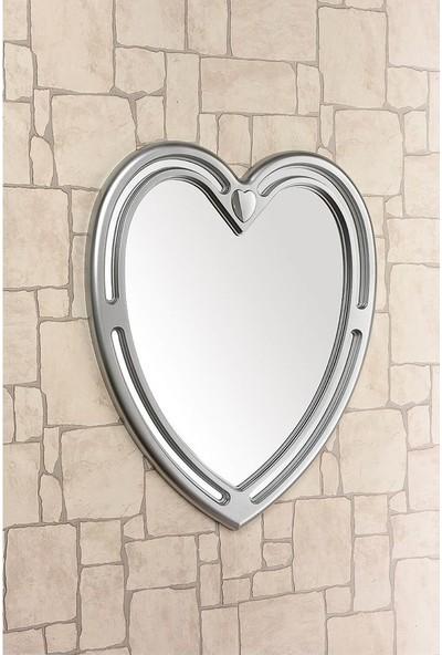 Çelik Ayna Dekoratif Kalp Ayna Plastik