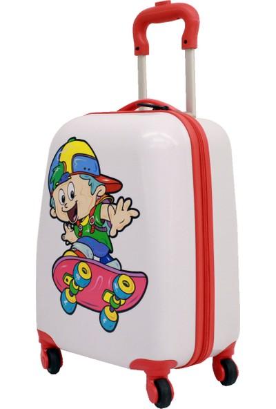 Albatros Kaykay 4 Tekerli Çekçekli Çocuk Valiz, Bavul