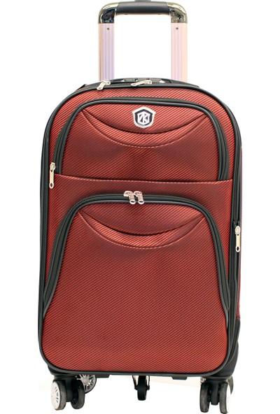 Nk valiz 0005-2k Nk Kırmızı Lüx Kumaş Orta Boy Valiz