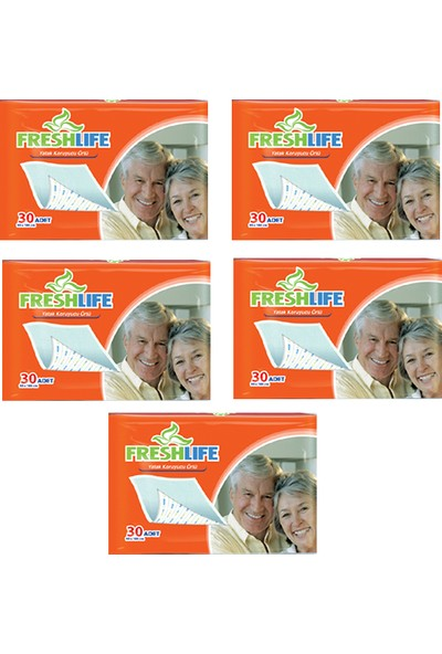 Freshlife 90 x 180 Yatak Koruyucu Örtü 30'lu Paket 5'liPaket