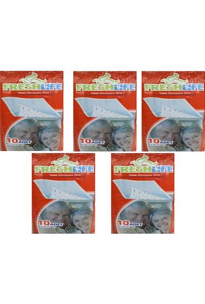 Freshlife 60 x 90 Yatak Koruyucu Örtü 10 Adet 5'li Paket