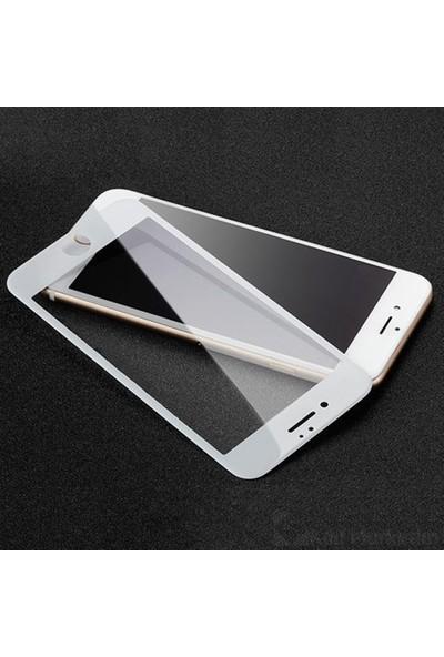 Zengin Çarşım Apple iPhone 8 Plus Kavisli Tam Kaplayan 9D Ekran Koruyucu Film Beyaz