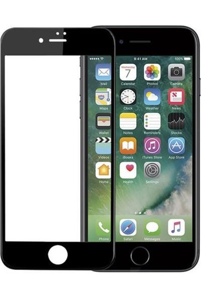 Zengin Çarşım Apple iPhone 8 Plus Kavisli Tam Kaplayan 9D Ekran Koruyucu Film Siyah
