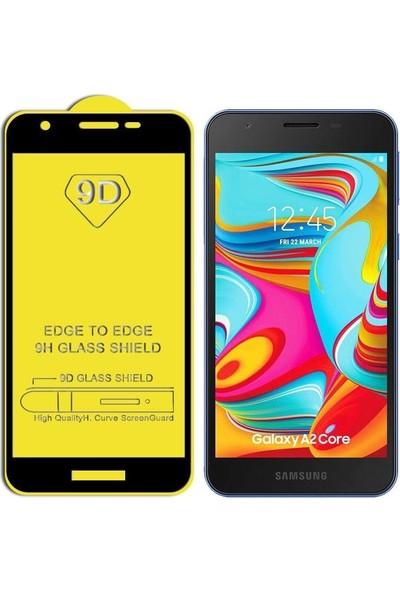 Zengin Çarşım Samsung Galaxy A2 Core Kavisli Tam Kaplayan 9D Ekran Koruyucu Film Siyah