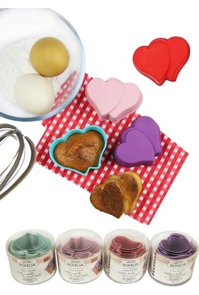 Ancel Kalpli Silikon Muffin Kalıbı 6'lı