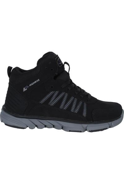M.P 182-2104 Siyah Süet Uzun Kışlık Kadın Basket Spor Ayakkabı