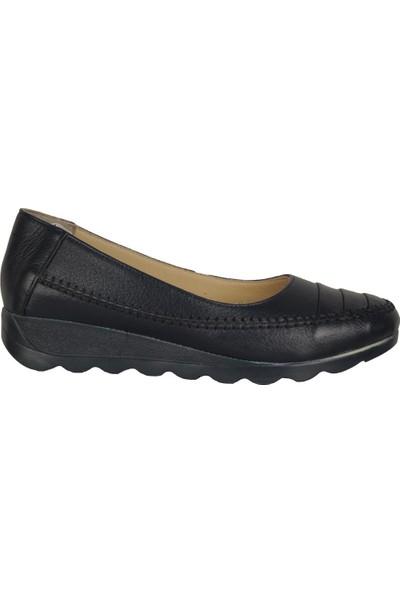 İmge 1121 Laci %100 Deri Anne Kadın Babet Ayakkabı