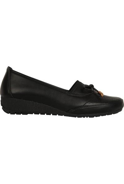 Wanetti 476 Siyah Rahat Günlük Kadın Ayakkabı