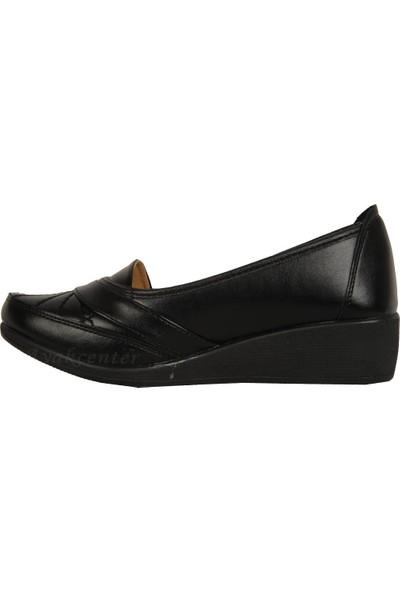 Ayzen Siyah Büyük Numara Büyük Beden Günlük Kadın Ayakkabı