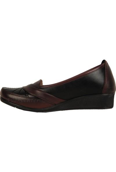 Ayzen Bordo Büyük Numara Büyük Beden Günlük Kadın Ayakkabı