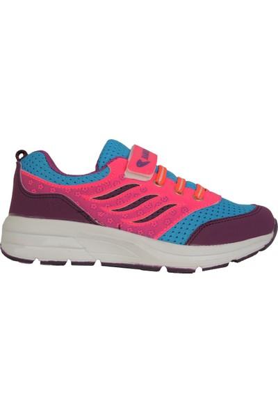 Hammırcek Mavi-Mor Cırtlı Yazlık Rahat Kız Çocuk Spor Ayakkabı