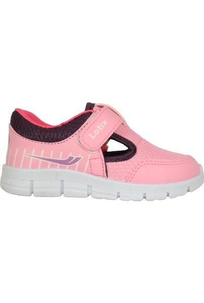 Lotix 3600 Pembe Cırtlı Yazlık Bebe Kız Çocuk Spor Ayakkabı