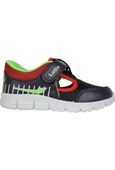 Lotix 3600 Laci-Bordo Cırtlı Yazlık Bebe Erkek Çocuk Spor Ayakkabı