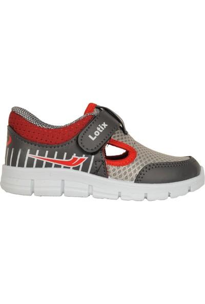 Lotix 3600 Gıri-Bordo Cırtlı Yazlık Bebe Erkek Çocuk Spor Ayakkabı