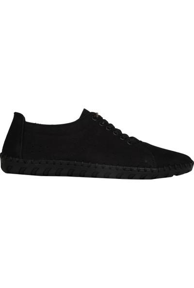 Taşer 0011 Siyah Günlük Rahat Erkek Klasik Babet Ayakkabı