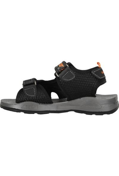 Gezer 11085 Siyah Cırtlı Yazlık Erkek Çocuk Sandalet Ayakkabı