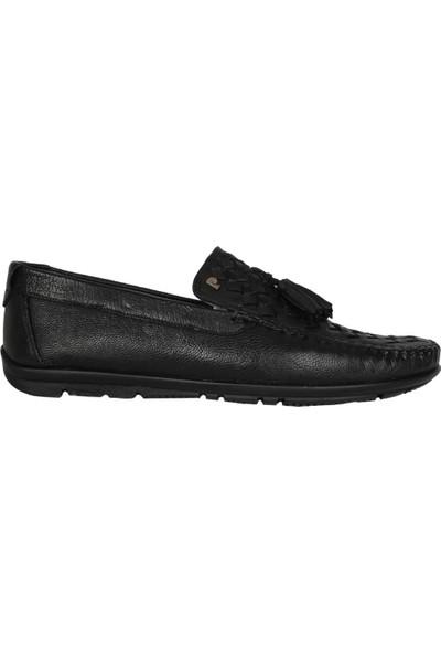 Perfectmen 215 Siyah Yazlık Günlük Klasik Erkek Babet Ayakkabı
