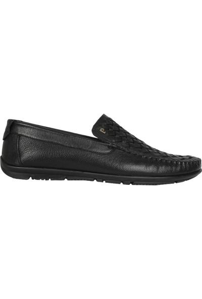 Perfectmen 351 Siyah Yazlık Günlük Klasik Erkek Babet Ayakkabı