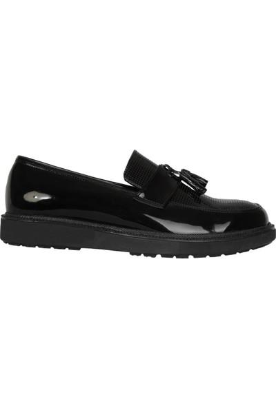 Fibinacci 367 Siyah Rugan Püsküllü Erkek Çocuk Kundura Ayakkabı