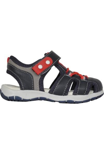 Fibinacci 00041 Lacivert Ortopedik Erkek Çocuk Sandalet Ayakkabı